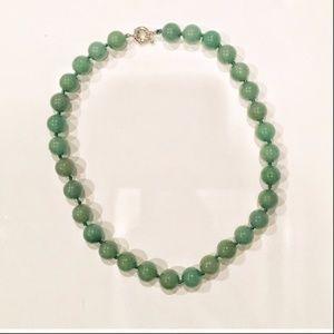 1/12/19 GREEN GLASS NECKLACE